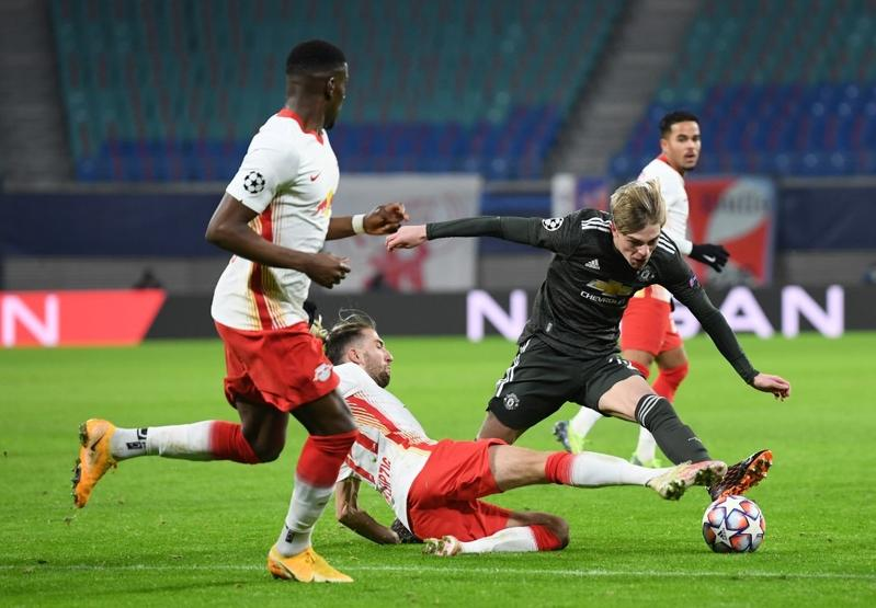 Leipzig book knockout spot with 3-2 win over Man United   Sports ...