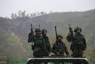 The People's Liberation Army San Wai Barracks in Hong Kong held a military event on Saturday, attracting some 300 people.