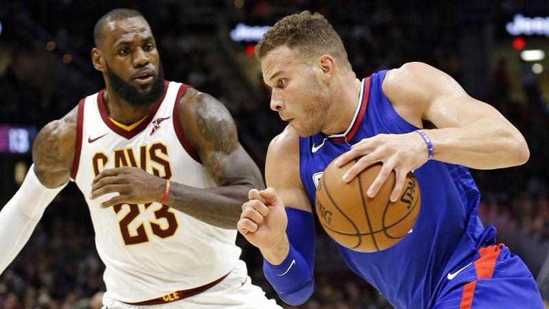 d68d418feae5 Los Angeles Clippers' Blake Griffin (right) drives against Cleveland  Cavaliers' LeBron James during the second half of an NBA basketball game,  Nov 17, 2017, ...