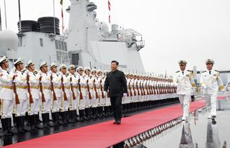 The parade features 32 Chinese vessels and 39 aircraft, as well as warships from 13 foreign countries including India, Japan, Vietnam and Australia.