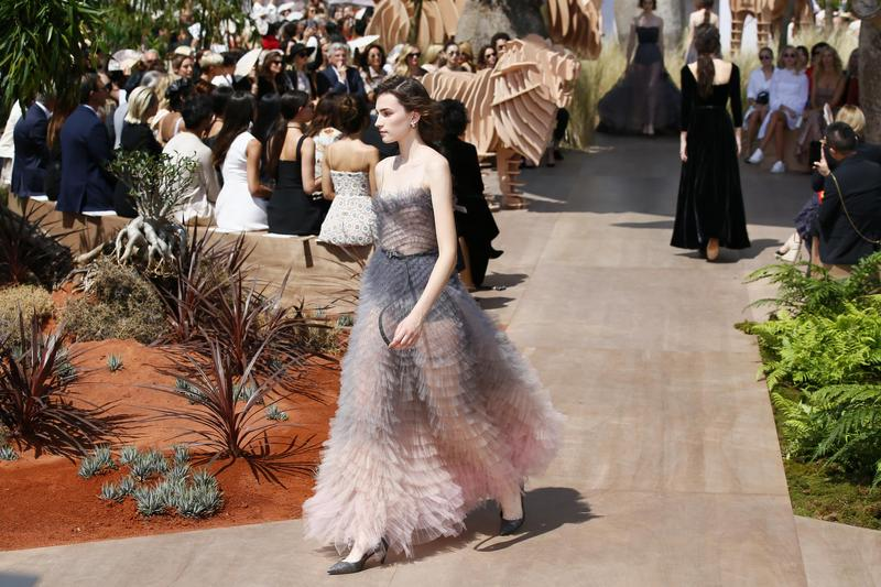 A model wears a creation during Christian Dior Haute Couture Fall-Winter  2017 2018 fashion collection presented 9bb69aed733ae