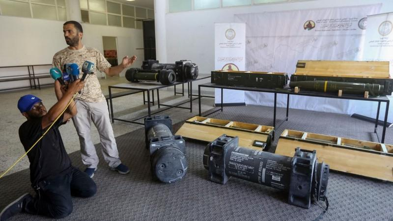 Image result for Javelin anti-tank missiles were uncovered Gharyan from Haftar  images
