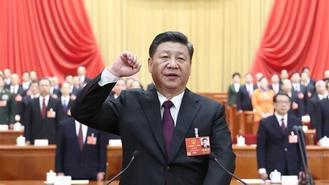 Newly elected Chinese President Xi Jinping took a public oath of allegiance to the Constitution in the Great Hall of the People in Beijing Saturday.