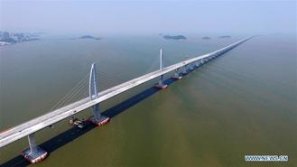 The Hong Kong-Zhuhai-Macao Bridge is to be officially open to traffic at 9 am on Oct 24. The 55-kilometer-long bridge will be the world's longest sea bridge.