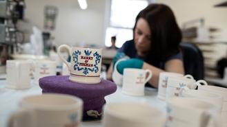 A British pottery is producing mugs emblazoned with the description of Harry Meghan as