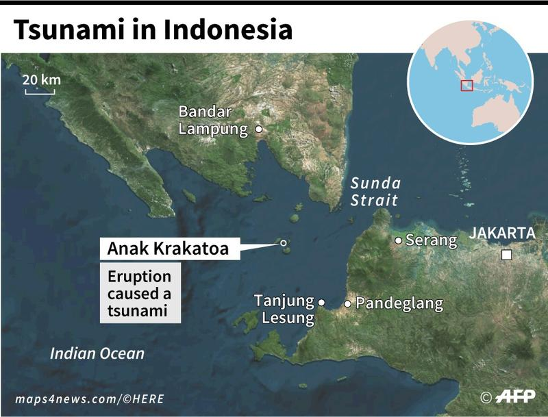 Scientists say Krakatau landslide caused Indonesia tsunami