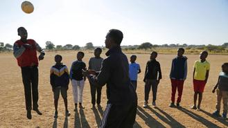 Tebogo Mofokeng, 18, got his first prosthetic legs at 3, set his mind on football at 6 and founded a local football club at Winterveldt 2 years ago.
