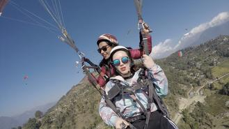 A decade ago, Trisha chose to test the limits of what she could and couldn't do as a career. She's now one of a handful of female paragliding pilots cruising the skies of Pokhara.