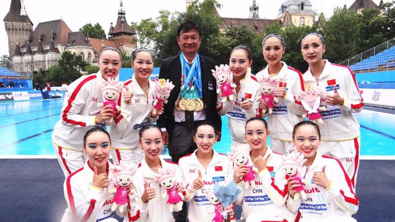 Chinese synchronized swimmers claim history-making gold at