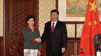 Hong Kong Chief Executive Carrie Lam briefed President Xi Jinping on the latest economic, social and political situation in Hong Kong.