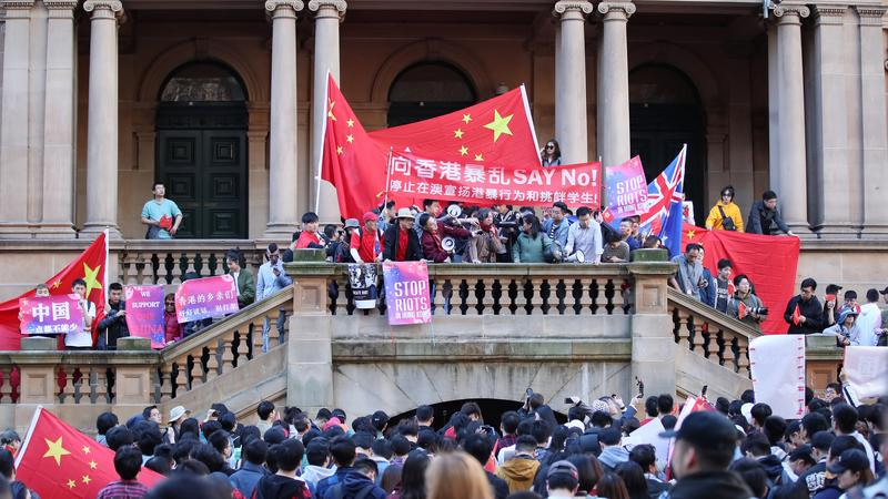 Spillover from HK protests to Aussie campuses irks local