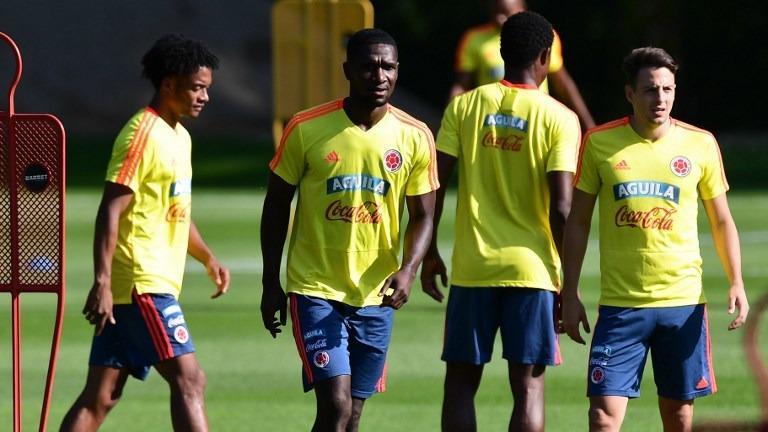98a74dafd6c Colombia s (from left) midfielder Juan Cuadrado