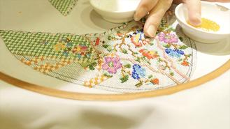 Hundreds of thousands of beads come together by hand, to create a continuing cultural symbol for the Baba Nyonya community in Malacca.