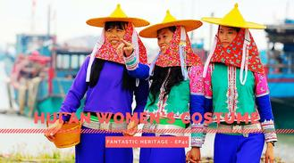 The Hui'an are Han Chinese that resides in Hui'an County of Quanzhou, Fujian province. The women here are known to be hardworking and you will always find them adorned in their distinct traditional attire.