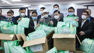 The Hong Kong Commerce and Industry Associations have 63,000 face masks ready to be distributed to the elderly on Friday.