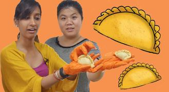 Natasha and Joyce go head-to-head again, this time to see who can make curry puffs the fastest.