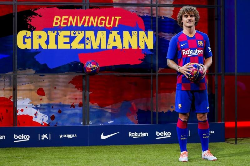 Barcelona Officially Present New Signing Antoine Griezmann Sports China Daily
