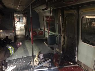 Radical protesters went on a rampage across the city Tuesday, badly vandalizing MTR stations and trains.