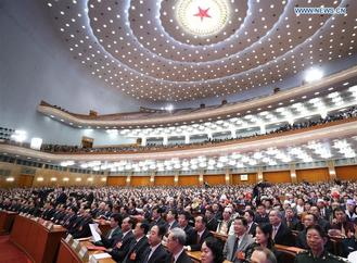 The first session of the 13th National People's Congress (NPC) holds its closing meeting at the Great Hall of the People in Beijing, capital of China, March 20, 2018.