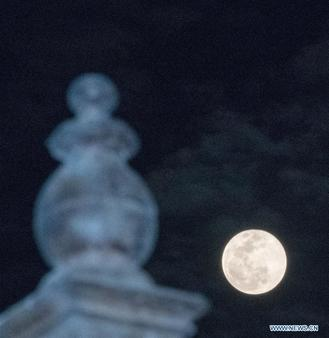 The supermoon was spotted across the world on Tuesday when the full moon was said to be the biggest and brightest in 2019.