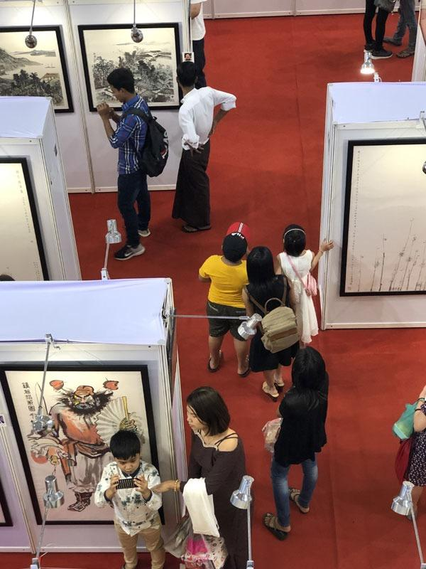 Exhibition of Chinese artists draws crowds in Yangon | Photo