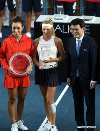 Yastremska comprehensively outplayed Wang to win the tournament without losing a set all week, walking away with a cheque for US$163,265.