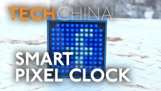 Get phone notifications via 8 bit pixel art using this smart bluetooth speaker clock. Video Produced by Feliks Cheang