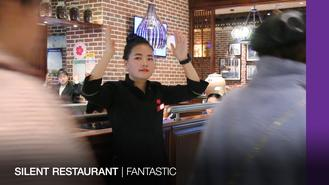 This restaurant in Xi'an in China supports people with hearing impairment by offering them jobs and training.