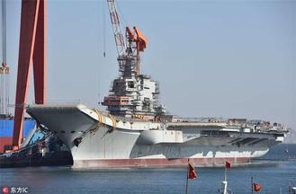 China's first domestically made aircraft carrier has completed outfitting work and is soon expected to conduct mooring trials.
