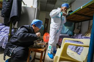At the fourth hospital of Wuhan, a 120 First Aid Team, works nonstop during Spring Festival to save the lives of patients who have been infected by the novel coronavirus.