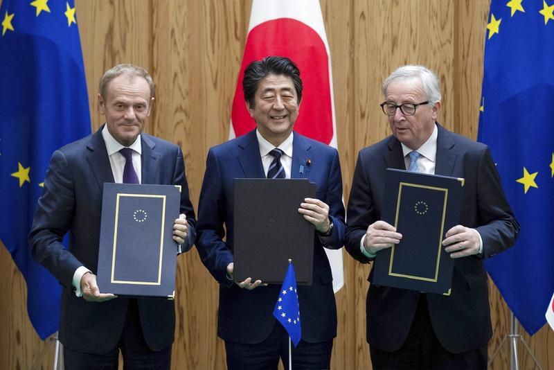 Japan Eu Sign Free Trade Agreement Asia News China Daily