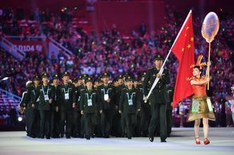 The 7th Military World Games officially opens in central China's city of Wuhan with 109 delegations marching into the stadium.