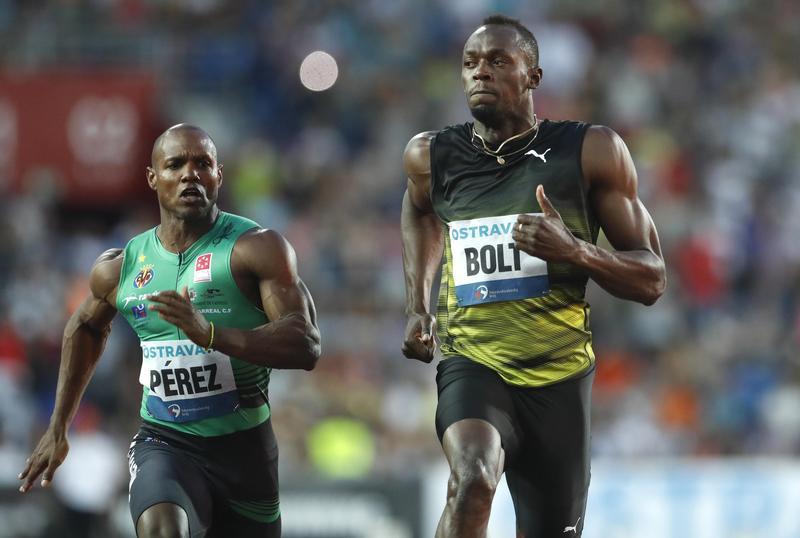d03e97f08ed Usain Bolt wins 100 meters at Golden Spike meet