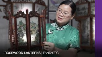 The beauty of Chinese traditional lanterns lies not only in its rosewood structure but also decorative paintings.