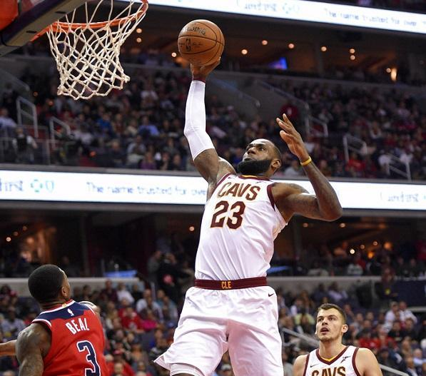 a9db47e7123c James scores 57 as Cavaliers beat Wizards 130-122