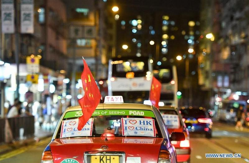 Hundreds of taxis parade against violence | Hong Kong