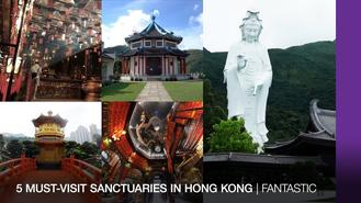 Here are five beautiful sanctuaries in Hong Kong to explore the city's spiritual side.
