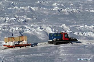 A total of 1,605 tons of supplies were transported from China's research icebreaker Xuelong to the Zhongshan Station in Antarctica.
