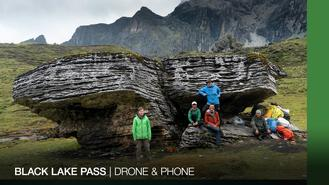 After crossing the Zabala Pass, Jack, Simon, and DJ find themselves in amongst the clouds as they slowly traverse boulder fields to find their way to Black Lake Pass in  Hengduan Mountains, Sichuan, China. Jack makes the best of the campsite, Simon finds a clue to Shangri-La, while DJ meets up with two unusual Drone and Phone fans.