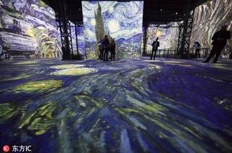 Parisian gallery L'Atelier des Lumieres is projecting digitized, multilayered versions of some of Vincent Van Gogh's most famous works in its second immersive art project.