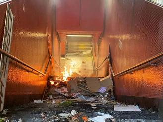 Fire and damages are seen in Hong Kong as radicals continue to hurt the global financial hub.
