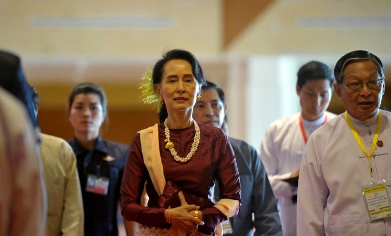 Myanmar govt 2 more armed groups sign ceasefire pact asia news myanmars state counselor aung san suu kyi center arrives for the second anniversary of the nationwide ceasefire agreement nca ceremony at the myanmar platinumwayz