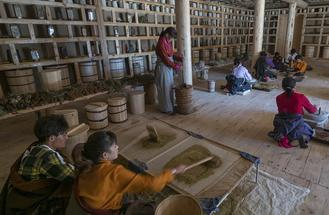 Town beats poverty with help of Tibetan heritage workshops.