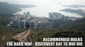 n the final walk recommended by our viewers, we return to Discovery Bay. This time to take a cruel 16km hike over two ridges in a half circle that brings us back to the coast at Mui Wo.