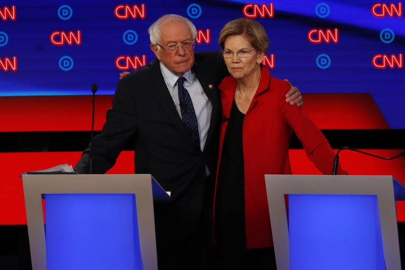 Democrats Are Spotlighting Big >> Sanders Warren Under Fire At 2nd Round Of 2020 Democratic Debates