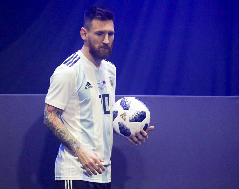 low priced dd0fe b3899 Messi presents World Cup 2018 ball in Moscow | Sports ...