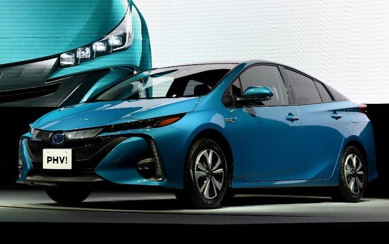 This Feb 15 2017 Photo Shows Redesigned Toyota Prius Phv Plug In Hybrid Vehicle During A Press Conference Tokyo Toru Yamanaka Afp