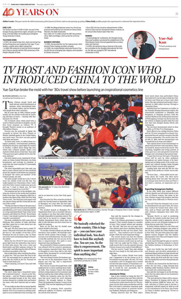 TV host and fashion icon who introduced China to the world